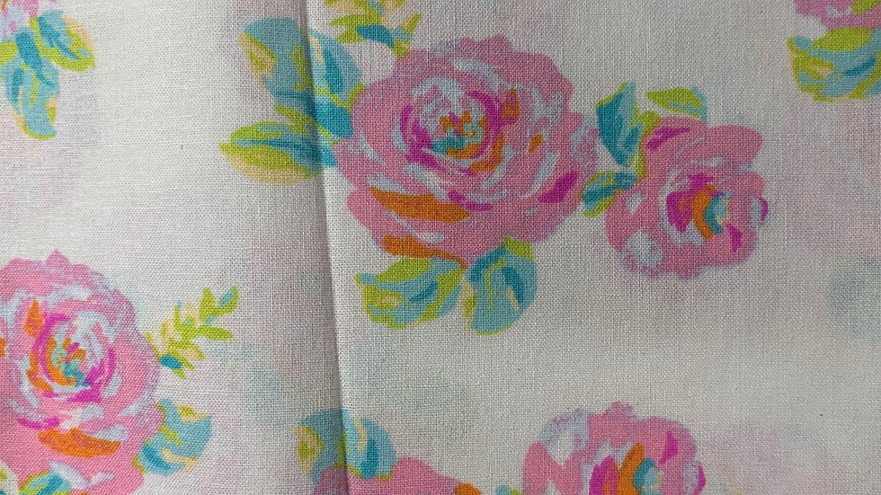 Watercolor Roses boxy bag or makeup bag