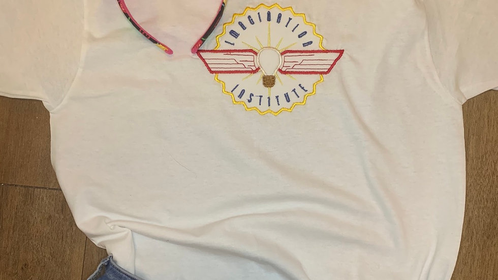 Imagination Institute embroidered t-shirt or tank