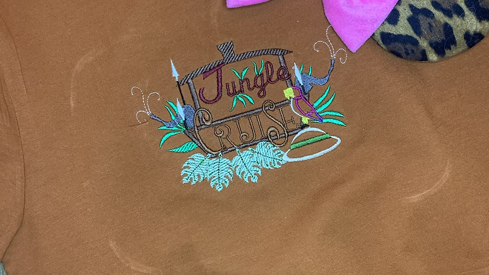 Jungle Cruise Embroidered Tee or Tank