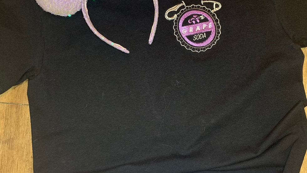 Grape Soda Badge embroidered t-shirt or tank