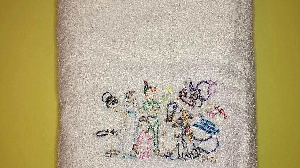 Peter Pan and the lost boys towels, makeup bag, tote