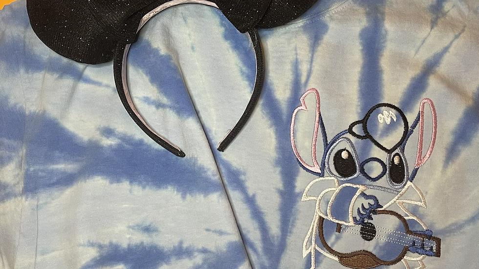 Elvis Stitch tie dye shirt