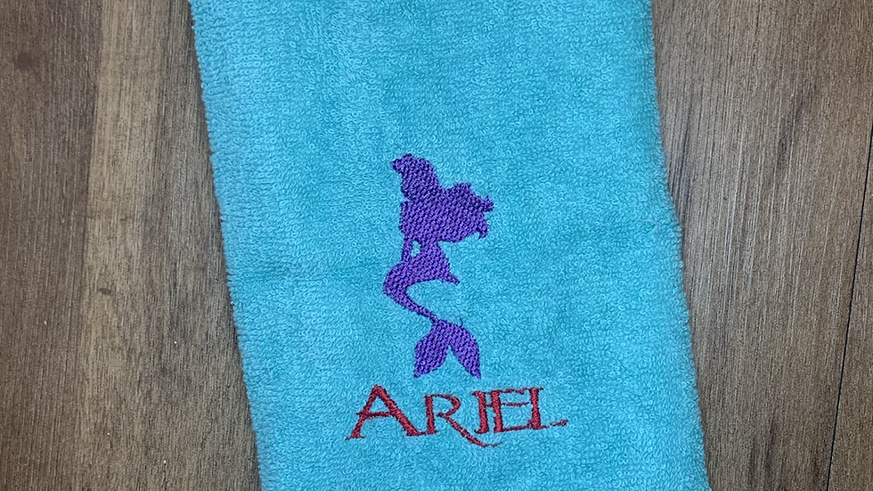 Ariel towels, makeup bag, tote