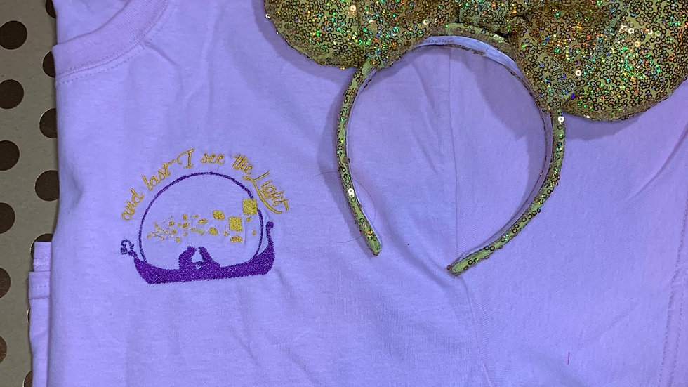 At last I see the light embroidered T-Shirt or tank top