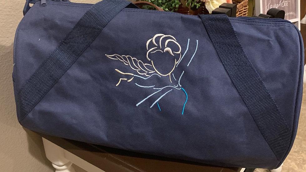 Queen Elsa embroidered duffel bag