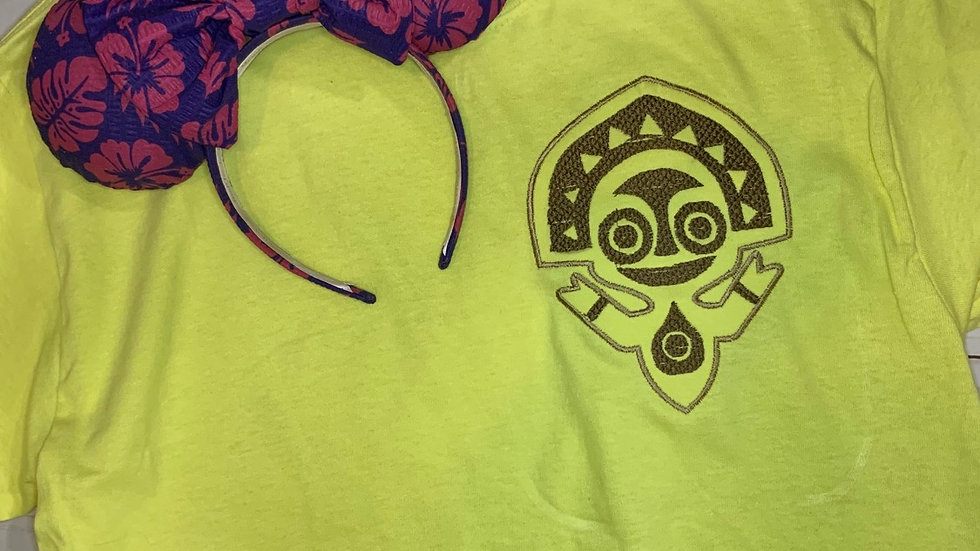 Polynesian Resort Statue embroidered t-shirt or tank top