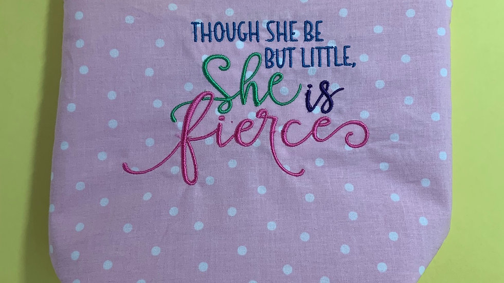 Though she is little she is fierce towels, makeup bag, tote bag, bl