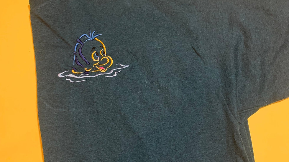 Flounder embroidered T-Shirt or tank top
