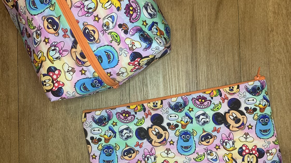 Faces of Disney Makeup Bag or Boxy Bag