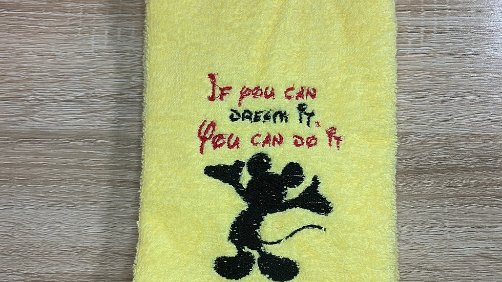 If you can dream it do it - Mickey Mouse embroidered towels, blanket, make