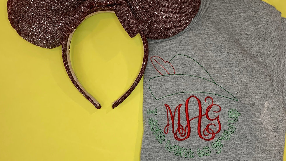 Peter Pan Monogram embroidered t-shirt or tank top