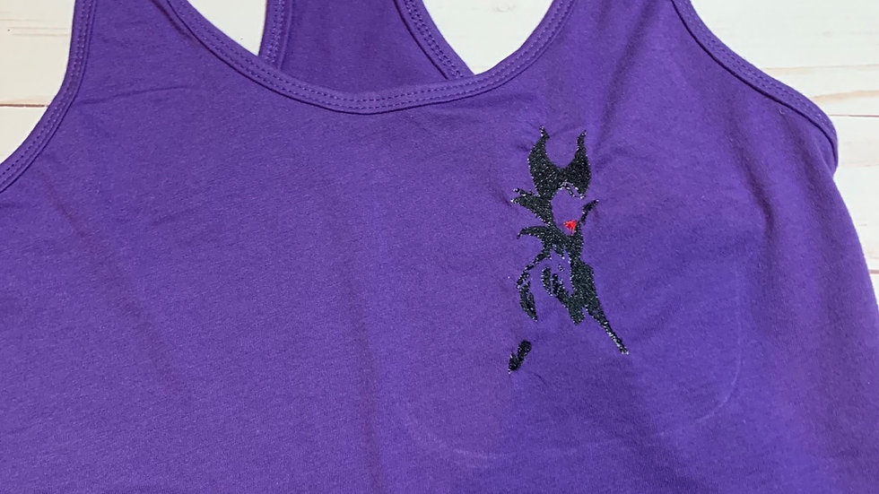 Maleficent silhouette embroidered T-Shirt or tank top