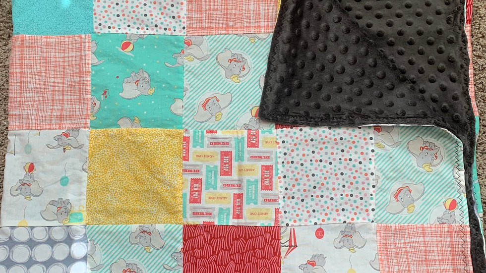 Dumbo patchwork quilt adult or child sizes available
