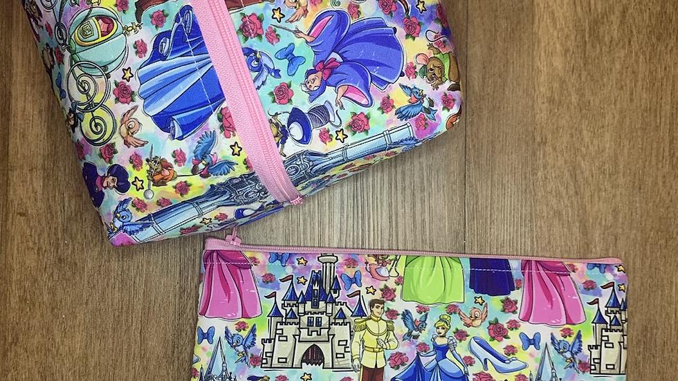 Cinderella Makeup Bag or Boxy Bag