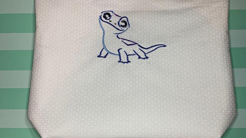 Bruni embroidered towels, blanket, makeup bag