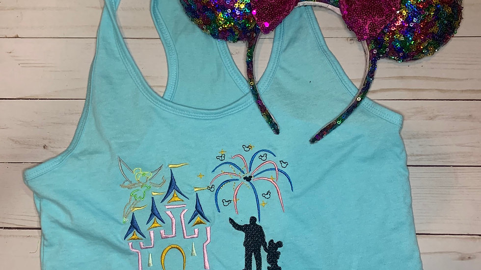 Fireworks on main street embroidered T-Shirt or tank top