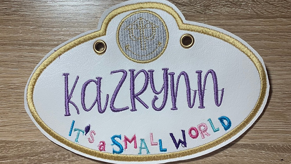 It's a Small World Stroller Tag