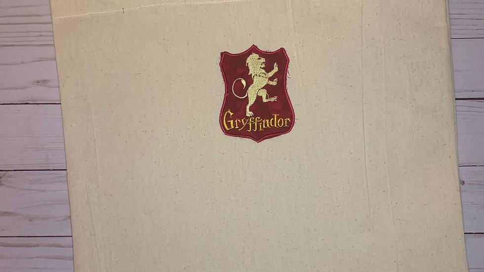 Gryffindor House Crest embroidered market tote