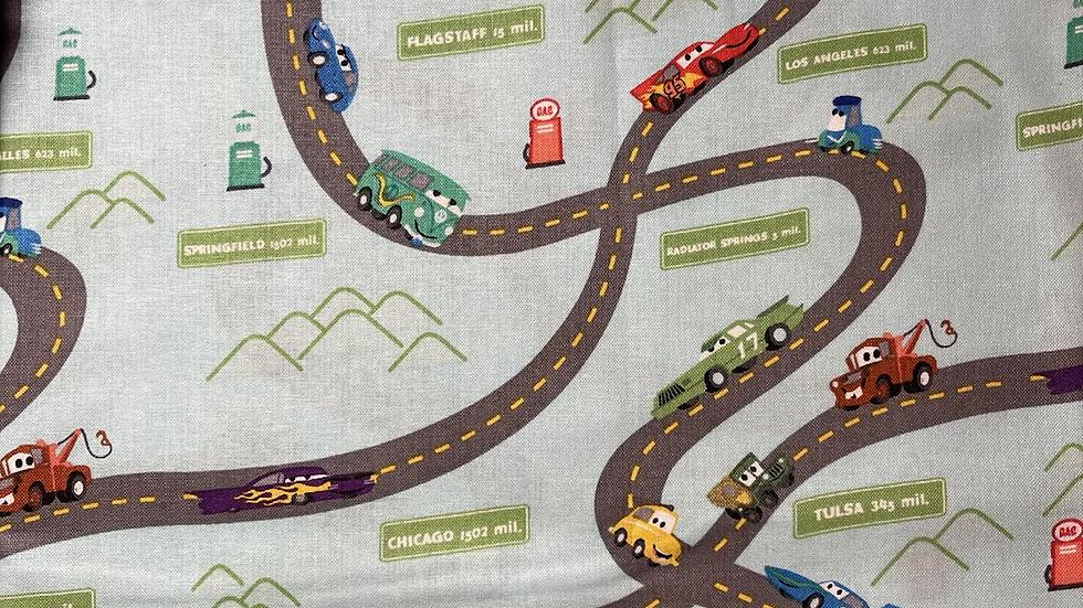 Cars Road Map Makeup bag or boxy bag