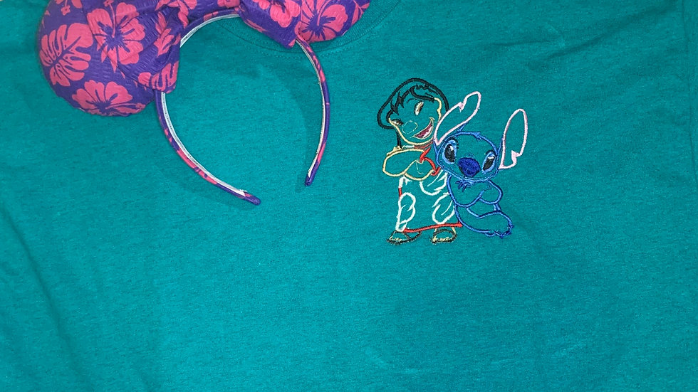 Lilo and Stitch embroidered t-shirt or tank top