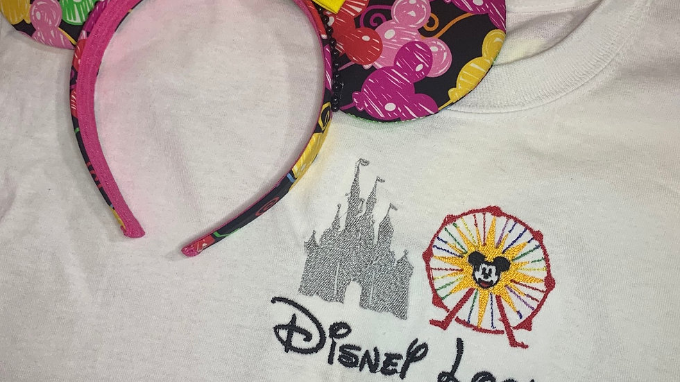 Disney Local Disneyland Version embroidered t-shirt or t