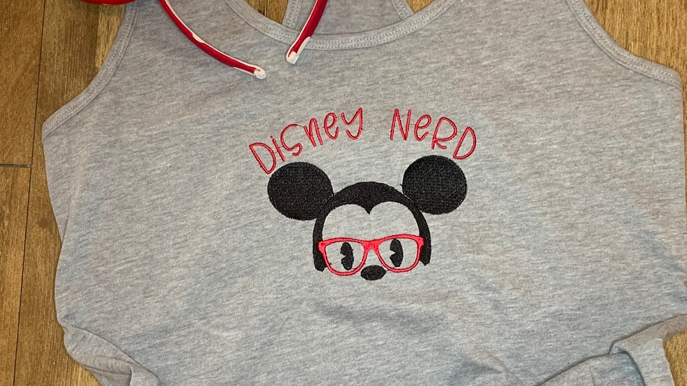 Disney Nerd embroidered t-shirt or tank