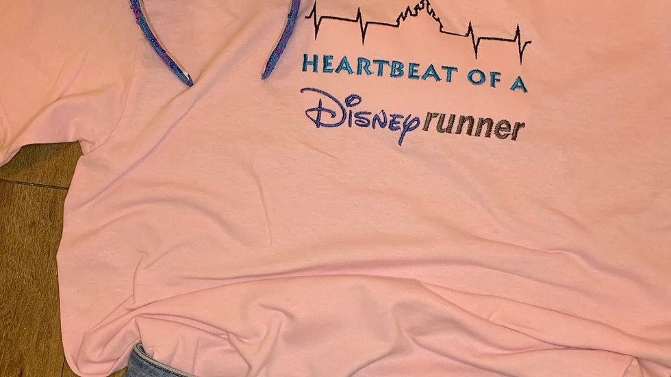 Heartbeat of a Disney Runner embroidered t-shirt or tank