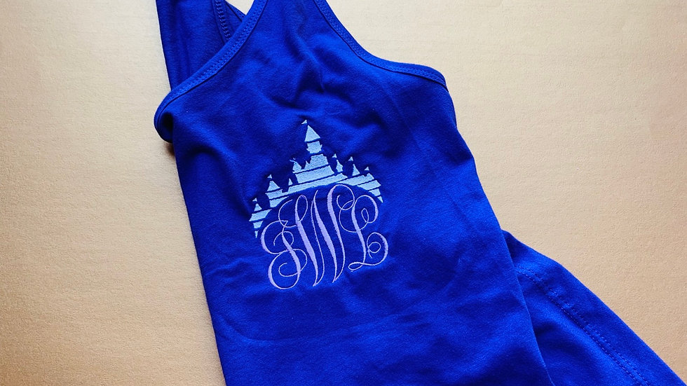 Castle Monogram embroidered T-shirt or tank top