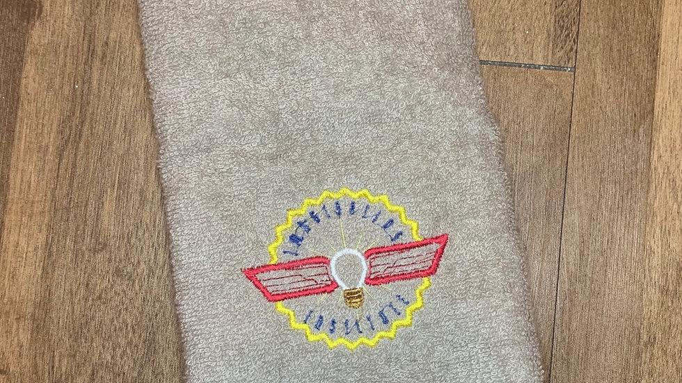 Imagination Institute towels, makeup bag, tote