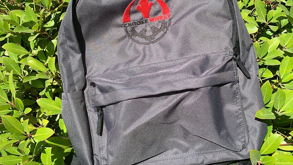 Choose wisely - Star wars - embroidered backpack