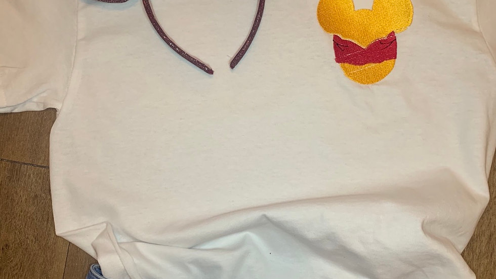 Pooh Mouse embroidered t-shirt or tank