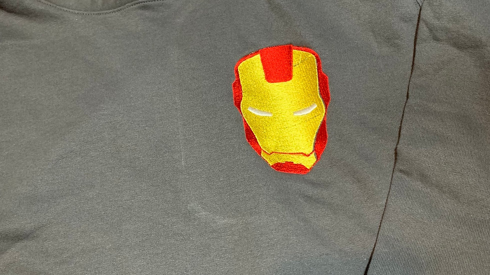 Iron man embroidered hoodie, pullover, 1/4 zip