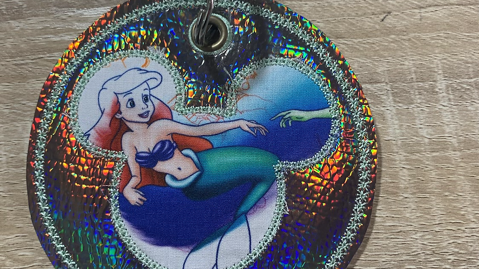 Ariel mickey balloon embroidered hat or ear holder