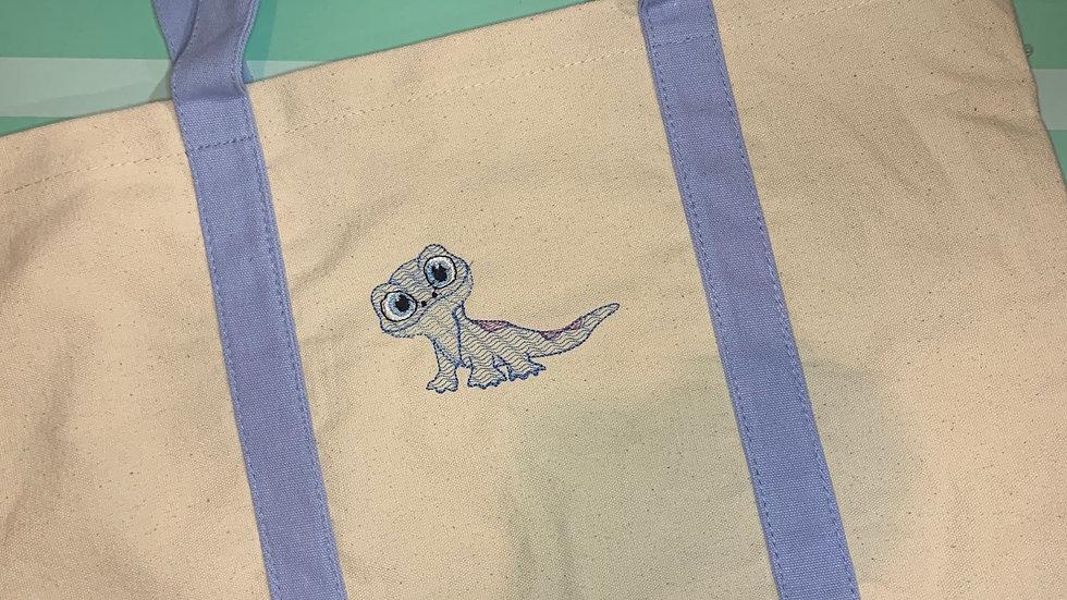 Bruni Bean Stitch pocket tote