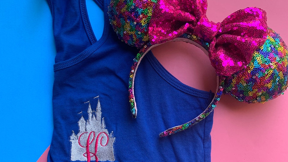 Castle Dreams Monogrammed embroidered  tank top or t-shirt