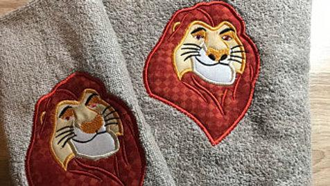 Mufasa embroidered hand towel/ bath towel / makeup bag/ tote bag /fleece blanket
