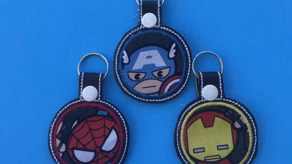 Marvel superheros embroidered keychain