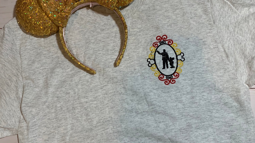 Walt and mickey mouse embroidered T-Shirt or tank top