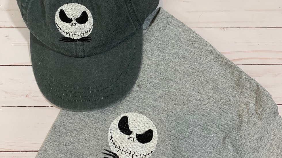 Jack skellington embroidered T-Shirt or tank top