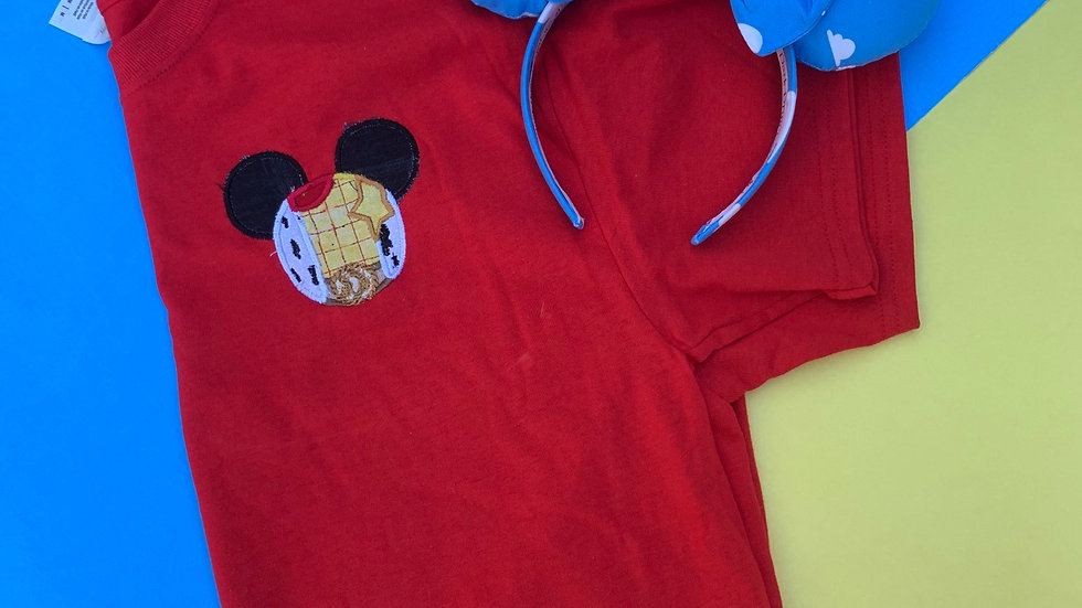 Woody Mouse embroidered t-shirt or tank top