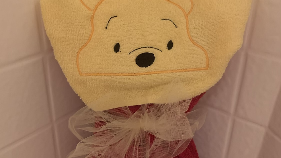 Pooh Bear embroidered hooded towel