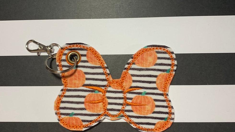 Striped Pumpkins Minnie Bow Bag Charm