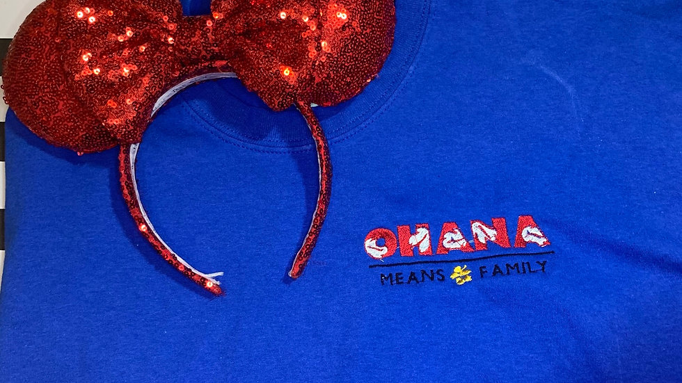 Ohana means Family embroidered T-Shirt or tank top