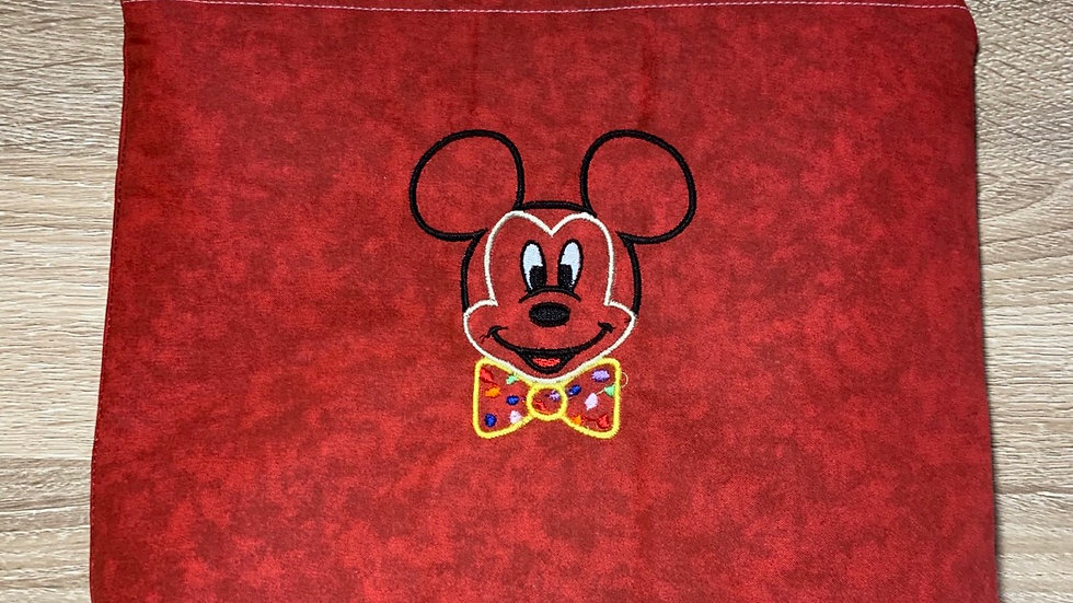 Celebration Mickey towels, makeup bag, tote
