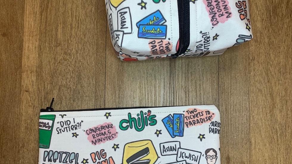 The Office boxy bag or makeup bag