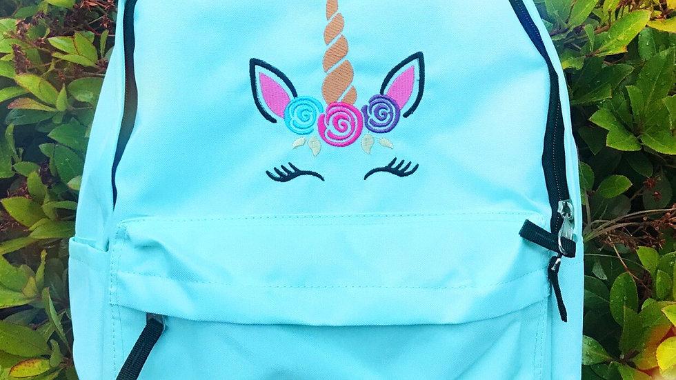 Minimalist Sleeping Unicorn embroidered Backpack