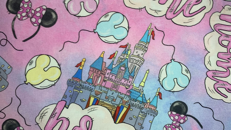 Cotton Candy Home Castle boxy bag or makeup bag