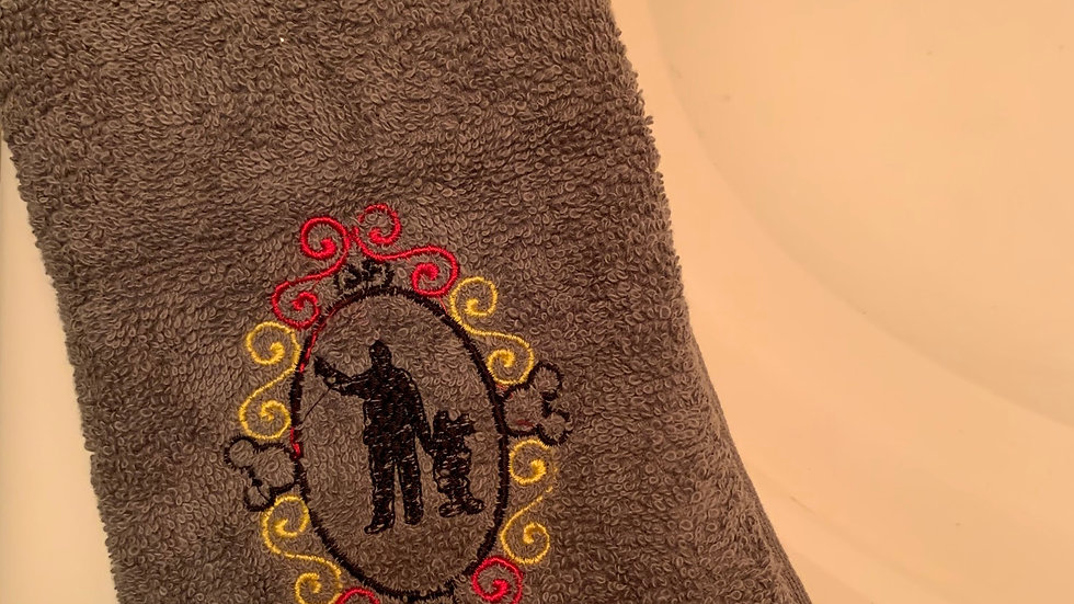 Walt and Mickey Mouse frame embroidered towels, blanket, makeup bag or tote