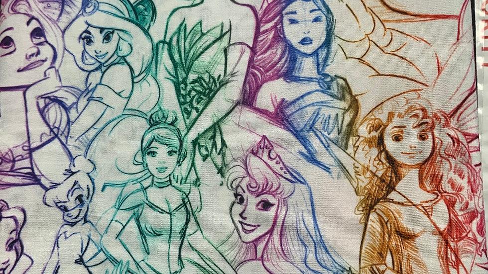 Rainbow princess sketch preorder