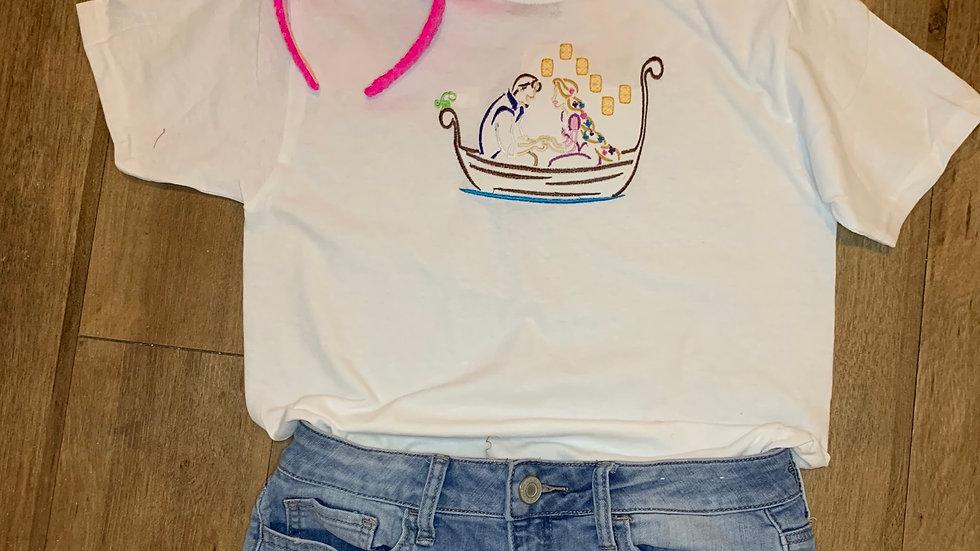 Floating Lantern Scene - Rapunzel embroidered t-shirt or tank